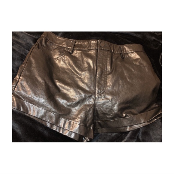Forever 21 Pants - Leather Shorts (NEW-NEVER BEEN WORN)